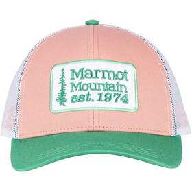 Marmot Retro Casquette trucker, coral pink/verde